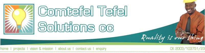 Comtefel Tefel Solutions cc - Electrification - Renovation - Construction - Solar panels